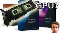 Ускорение GPU в видеоредакторе Sony Vegas - работает ли?